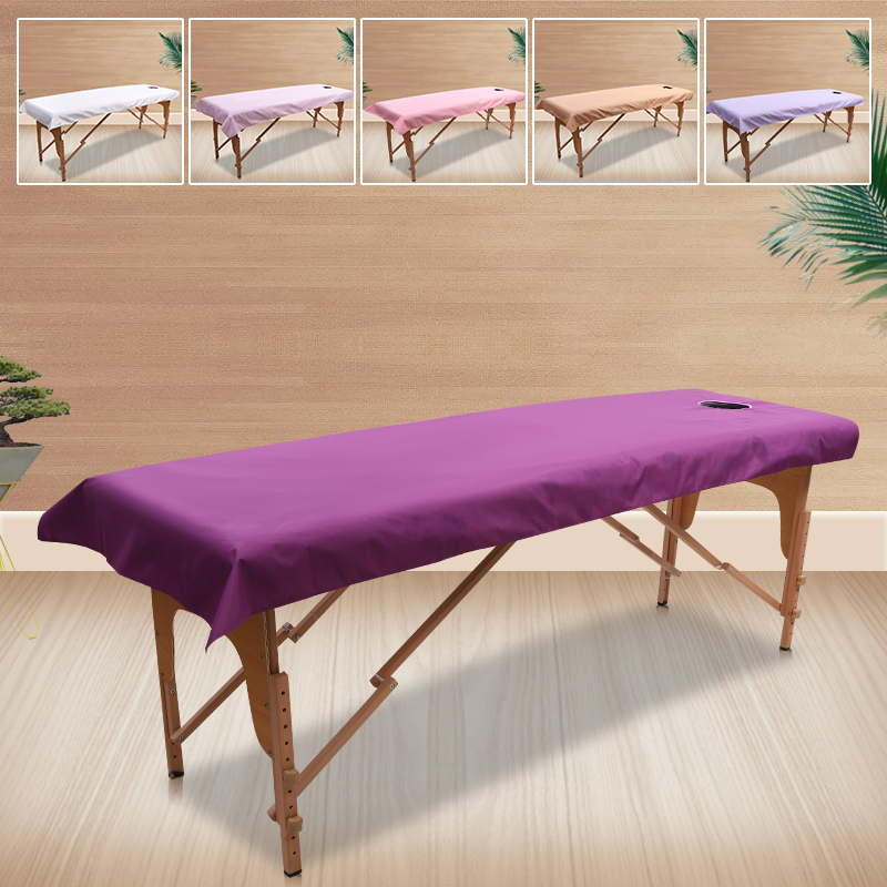 Massage Table Sheets 80cmx190cm Waterproof Oil Beauty Body Massage Thickening With Venting Holes