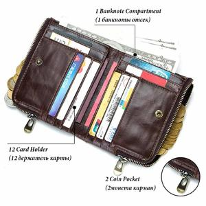 Image 2 - 2020 Classic Style Men Wallets Genuine Leather Short  Male Coin Purse Cards Holder High Quality Pocket Retro Purse For Man