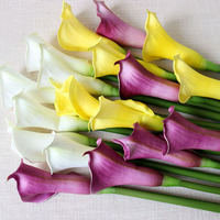 Big 63cm Real Touch Calla Lily Artificial Flowers Wedding Decorative Flowers Fake Flowers Wedding Party Decoration Accessories