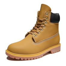 Boots Shoes Martin Men's Genuine-Leather Tooling-Style Two-Layer Cashmere Cowhide Optional-Quality