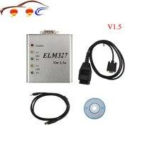 Metal alumínio elm327 v1.5 obd2 ferramenta de diagnóstico automático elm 327 v1.5a obd obdii elm327 usb interface de metal código falha varredura