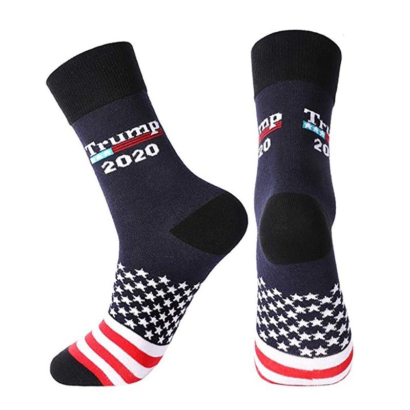 1 Pair Mens President Donald Trump 2020 President Election Cotton Socks Maga Usa Socks American Flag Striped Socks
