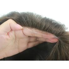 Eversilky Thin Skin Base Thickness is 0.08-0.10 mm Human Hair Toupee Hair Replacement