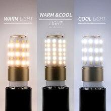 Led Lamp Chandelier Led Corn Light Bulbs E27 Dimming Lights 220V 3 Colors Led Bulb E14 110V Home Lighting for Kitchen Bedroom