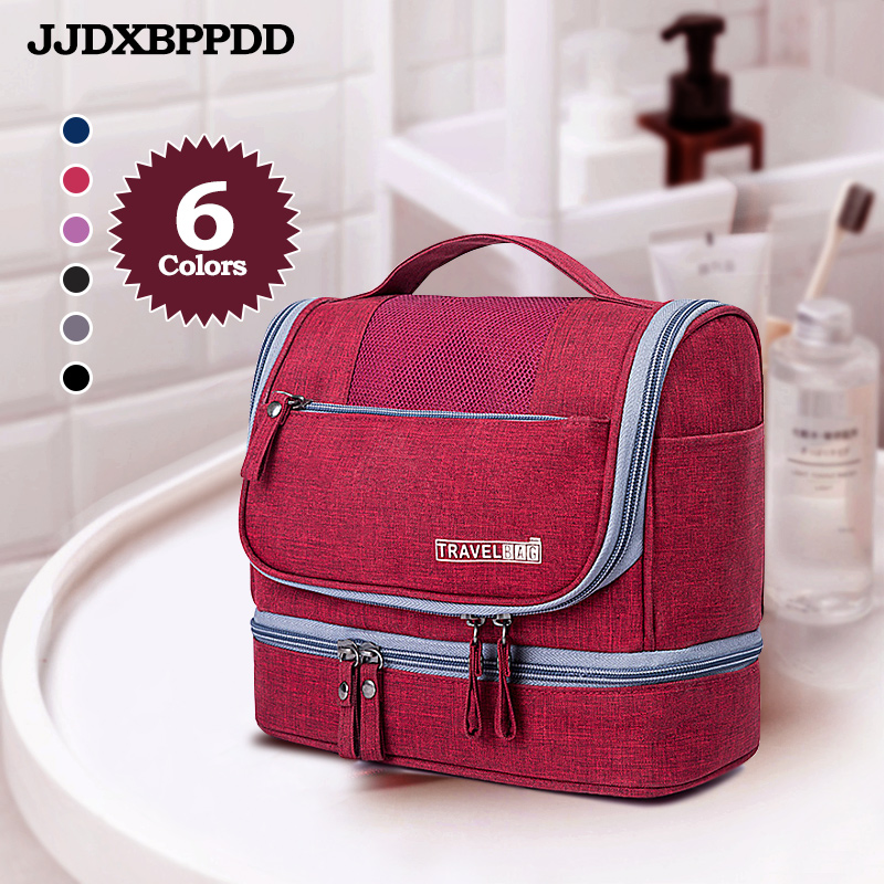 JJDXBPPDD Toiletry Bag Waterproof Men Hanging Makeup Bag Oxford Travel Organizer Cosmetic Bag For Women Necessaries Make Up Bag