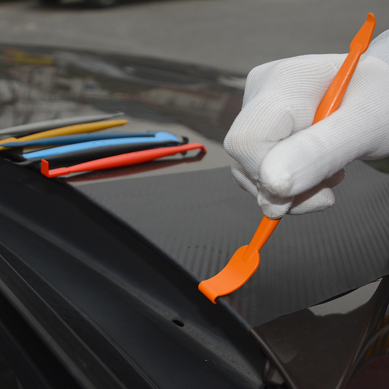 Image 5 - FOSHIO 탄소 섬유 자석 스틱 스퀴지 비닐 랩 자동차 도구 세트 자동 창 색조 도구 필름 설치 스티커 포장 스크레이퍼스크레이퍼   -