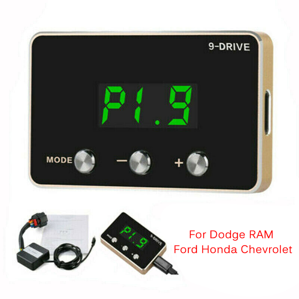 Brand New Factory Direct Sale 9 Drive 9 Mode Electronic Throttle Controller Booster For Dodge RAM Ford Accelerator Ped