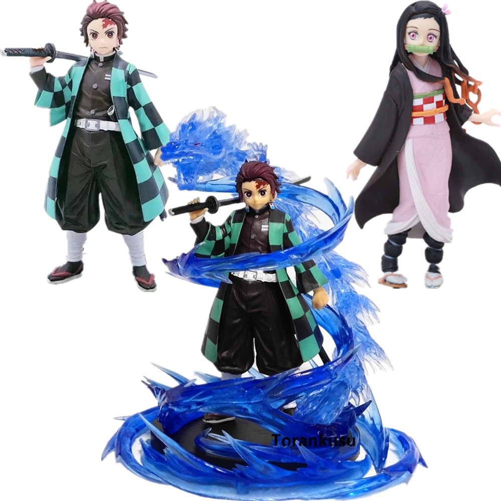Demon Slayer Tanjirou Nezuko PVC Action Figures Model Toy Demon Slayer Anime Figurine Kimetsu No Yaiba Anime Fgures