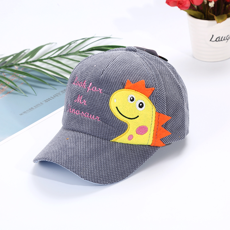 Hab7aa52e2d394a0d85da9b6a34ce63a8l - Spring Autumn Baby Baseball Cap Cartoon Dinosaur Baby Boys Caps Fashion Toddler Infant Hat Children Kids Baseball Cap