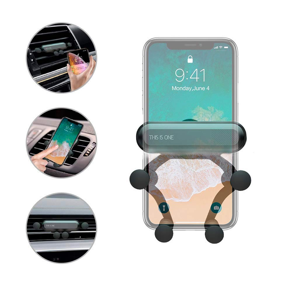 Car Phone Holder For Cell Phones Smartphone Huawei Iphone GPS 4 Support Air Vent Gravity Car Holder Bracket Auto Stand Universal