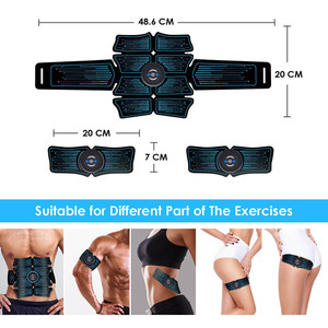Image 5 - Abdominal Muscle Stimulator EMS Abs Electrostimulation Home Gym  Trainer Muscles Toner Exercise Fitness Equipment USB Charged