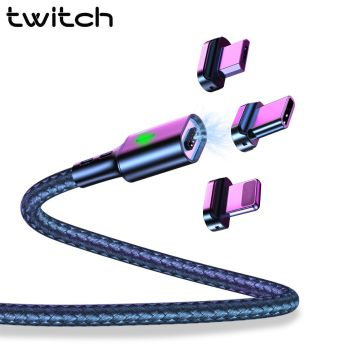 Twitch T03 câble magnétique Micro usb Type C câble de charge Usb magnétique Microusb type-c aimant chargeur fil usb C pour iphone 11 1