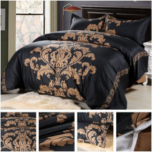 Red White Black Comforter Bedding Set Flower Printed Bohemian Duvet Cover European Style King Bed Cover With Pillowcase