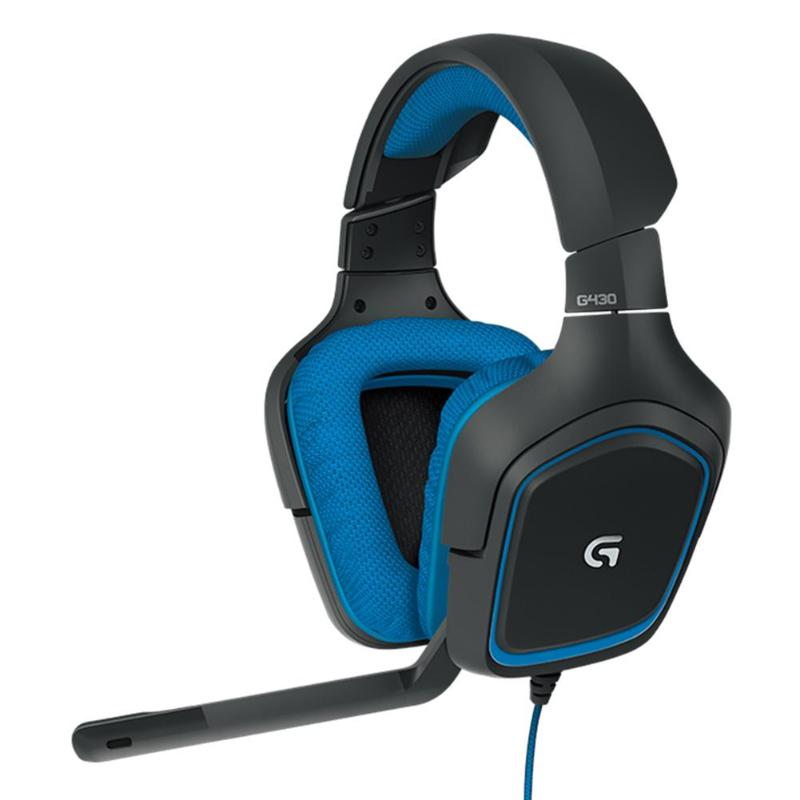 Logitech G430 USB Wired Gaming Headset 7.1 Surround Stereo Adjustable Noise-Cancelling Headphone With Mic For PC Laptop PUBG LOL