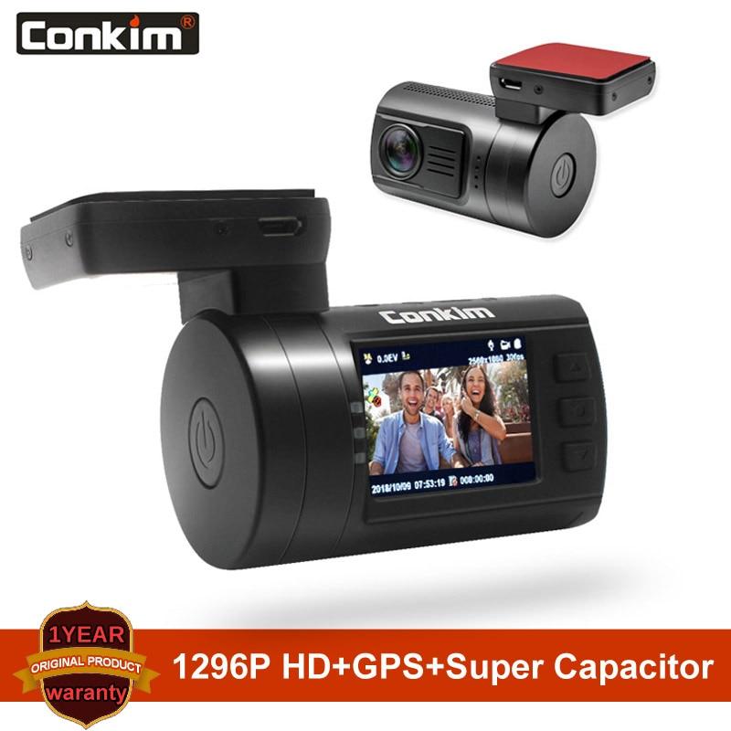 Conkim Ambarella A7 Dash Cam Mini 0806s Auto DVR Mit GPS 1296P 1080P Volle HD Auto Video recorder Super Kondensator Auto Kamera GPS