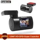 Conkim Ambarella A7 Dash Cam Mini 0806s Car DVR With GPS 1296P 1080P Full HD Auto Video Recorder Super Capacitor Car Camera GPS