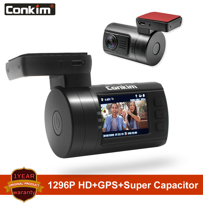Conkim Ambarella A7 Dash Cam Mini 0806s Автомобильный видеорегистратор с gps 1296P 1080P Full HD Автомобильный видеорегистратор супер конденсатор Автомобильная камера gps