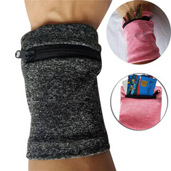 Multifunctional wrist bag summer sports breathable zipper ankle wrap wrist strap belt wallet storage sweat-absorbent breathable