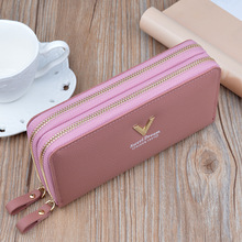 Luxury Brand Women Wallets Long Zipper Coin Purses Fashion Hasp Thread Wallet Design Clutch Female Money Bag Credit Card Holder цена 2017