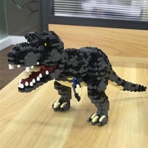 Image 4 - Balody Dinosaur Tyrannosaurus Rex Velociraptor Animal Monster 3D Model DIY Diamond Mini Building Blocks Toy for Children no Box