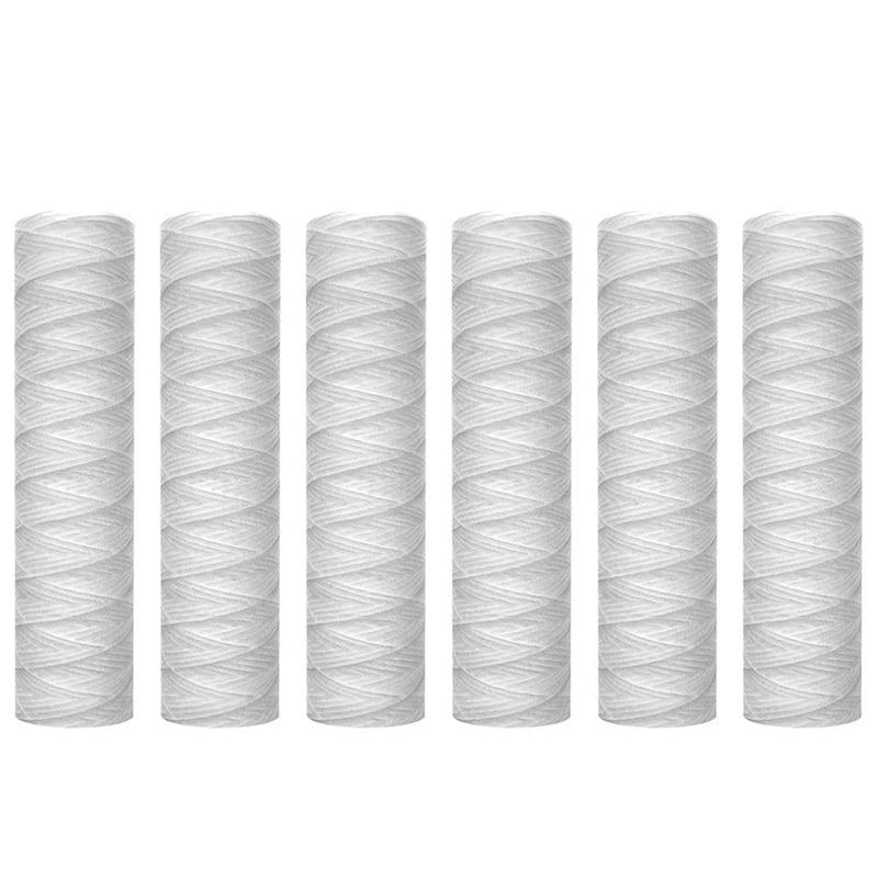 10 микрометрических нитей, фильтр для воды, картридж, 6 упаковок, фильтрация всего дома, универсальный