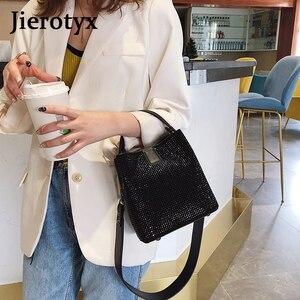 Image 2 - Jieotyx diamenty kobiety torebka wiadro znane marki projektant kobiece torebki jakości Pu skórzane torby na ramię pani mała torba typu crossbody