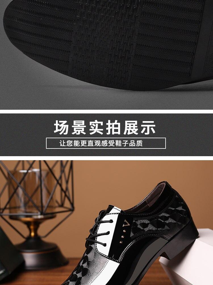 Oxfords sapatos masculinos de couro rendas até