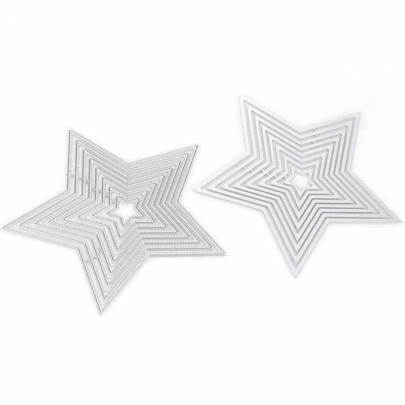 Natal Estrela de Metal DIY Scrapbook Morre Corte Relevo Stencil para o Miúdo das Artes Criativas Artesanato Suprimentos, Suprimentos Cartão