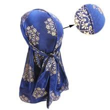 Baotou – chapeau de Pirate coloré à longue queue avec Laser, belle Cape imprimée pour femmes et hommes, Turban, bandana en soie