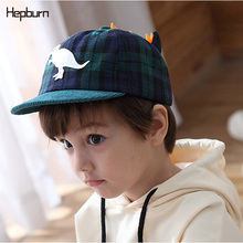 Hepburn Brand Baby Hat Spring Visor Kids Cap Cartoon dinosaur Baseball Hats For 6-24 months Children Unisex Cotton Toddler