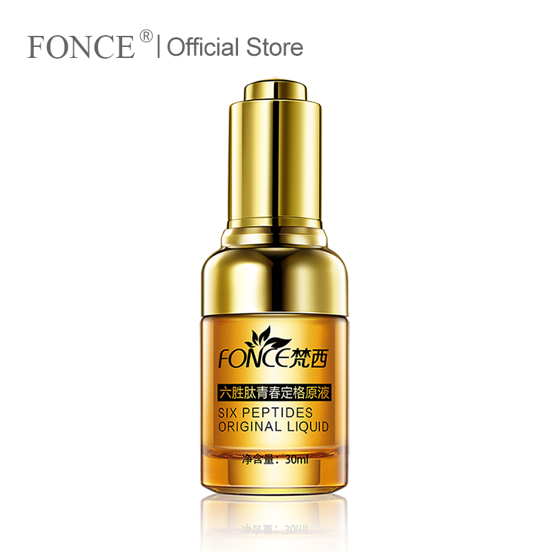 Fonce Anti Wrinkle Remover Facial Serum Plant Anti Aging Lifting Firming Face 25-55 Age Argireline Six Peptides Essence 30ml