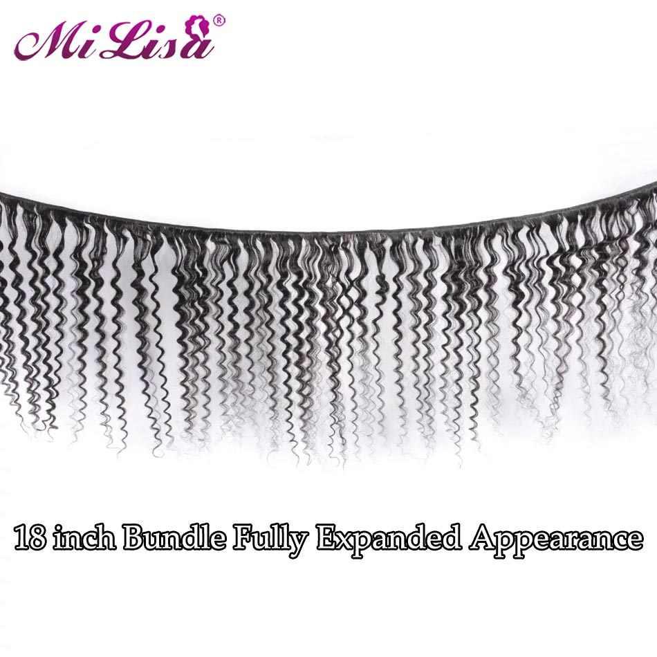10- 30 inch Deep Wave Bundles Brazilian Hair Weave Bundles 3 Pcs 100% Human Hair Bundles Deal Remy Mi Lisa Hair Weave Extensions