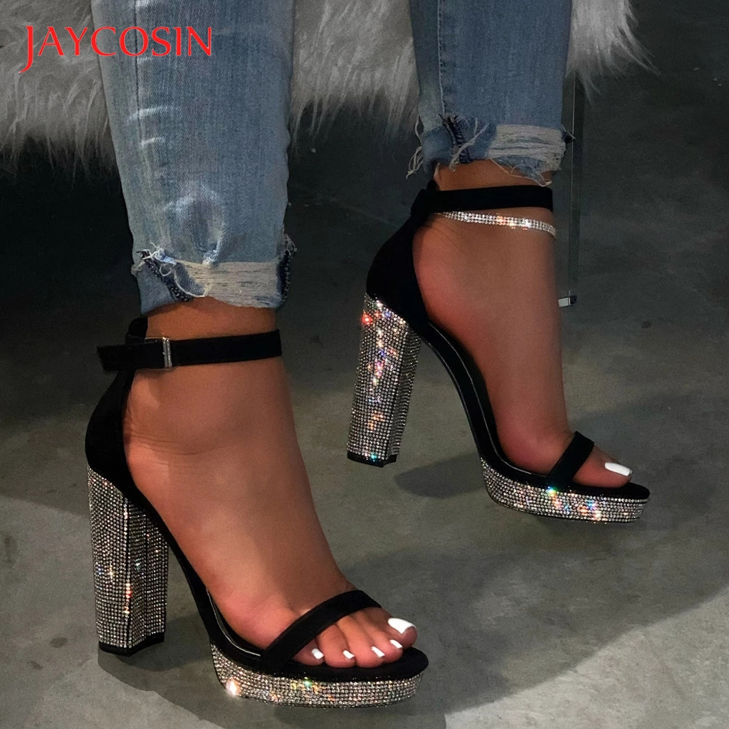JAYCOSIN Pumps Women Shoes Roman Style Large Size High Heels Sandals Casual Ladies Shoes Woman tacones mujer high heels calzado 1