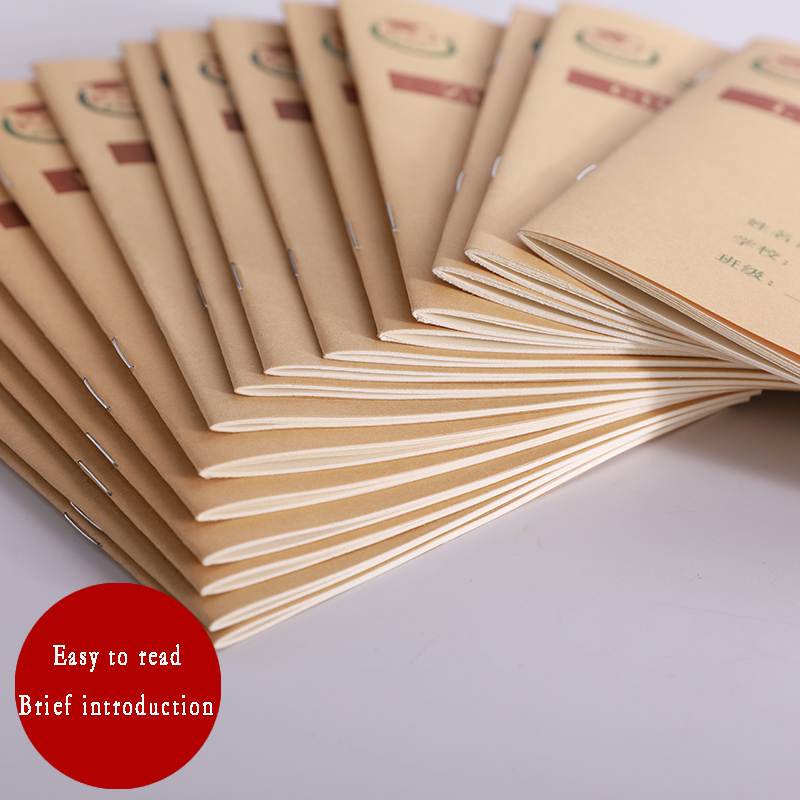 5 PCS Notepad Soft 36k Chinese Exercise Book Chinese Grid Workbook Writing Book For Kids ,Size 17.5cm*12.5cm ,Set Of 10