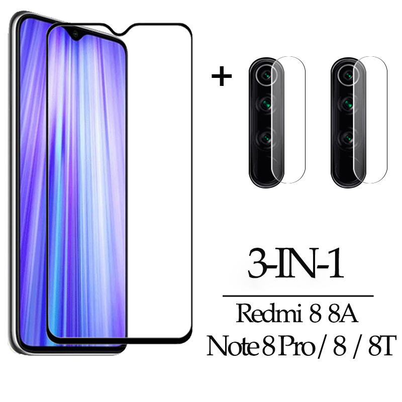 3-in-1 Film Camera Glass For Redmi 8A Note8 8 T Pro Glass Screen Protector Xiaomi Redmi Note 8 Pro Redmi 8 A Screen Protector Red Mi Note 8 Pro Glass