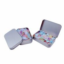 цена на Tin Boxes Square Candy Box Conjoined Flip Small Metal Storage Box Silver Jewelry Keys Coins Metal Boxed Tin UK Tin Box Candy Box