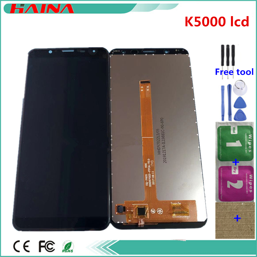 AAA quality <font><b>lcd</b></font> For <font><b>Oukitel</b></font> <font><b>K5000</b></font> <font><b>LCD</b></font> Display+Touch Screen 100% Original <font><b>LCD</b></font> Digitizer Glass Panel Replacement with tools image