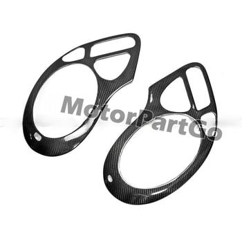 Real Crabon Fiber Head light Eyelid Eyebrow Cover Trim 1pair for  Porsche 911 996   2005  T169 1