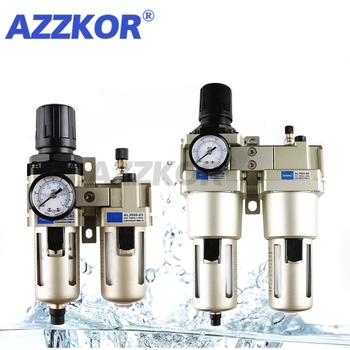 AC3010 4010 5010 Pneumatic Air Source Processor with Regulator Valve Filter Oil Mister Air Compressor Separator Filter Airbrush free shipping 2pcs lot smc 3 4 metal air source treatment unit filter regulator with cover 3 pieces combinations ac4000 06