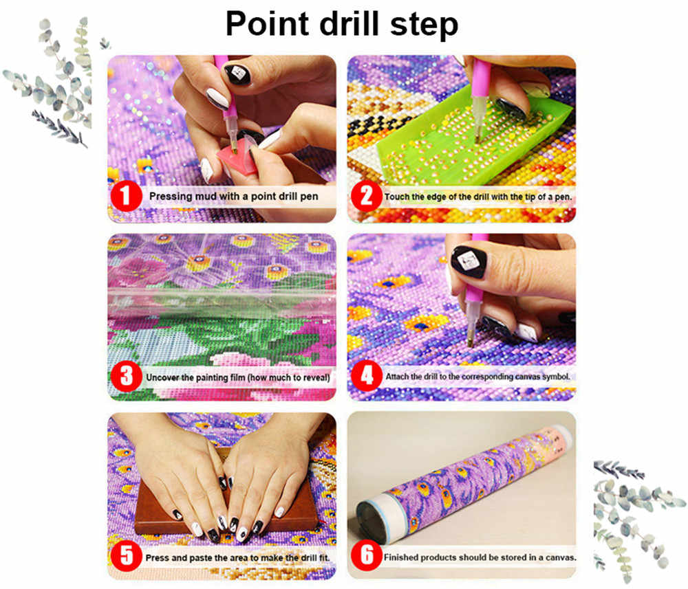 5D DIY Diamond Painting Lavender flower All kinds of flowers Cross Stitch Home Decor