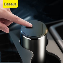 Baseus Alloy Car Trash Can Auto Organizer Storage Bag Car Garbage Bin Ashtray Dust Case Holder Auto Accessories cheap Pressing Type ROUND Rolling Cover Type Metal Car Trash Can Car Trash Bin inner cup rack door cubby-hole armchair box
