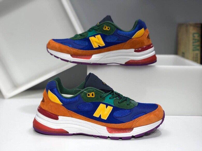 Новое поступление N New BALANCE M992BY Высококачественная дышащая обувь для бега в стиле ретро кроссовки для мужчин/женщин и мужчин Спортивная обувь Eur 36 45        АлиЭкспресс