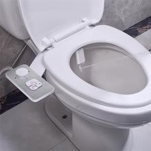 Биде сиденье для унитаза насадка ультра-тонкая 5 мм неэлектрическая самоочищающаяся двойная насадка фронтальная и задняя стирка для холодн...
