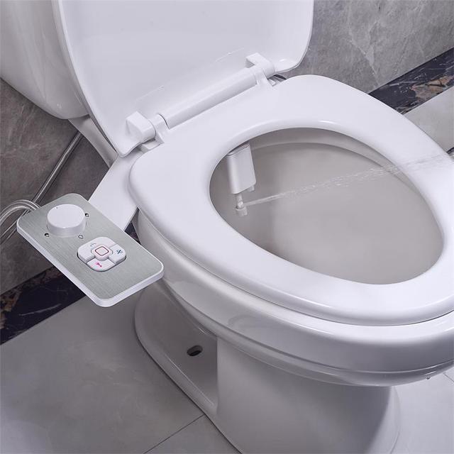 Samodra Bidet Toilet Seat Attachment Ultra-thin Non-electric Dual Nozzles Frontal & Rear Wash For Bathroom Toilet Bidet Sprayer 2