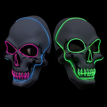 Halloween Light Dj Mask LED Party Glowing Glow In Dark Festival Cosplay Dress Up Supplies