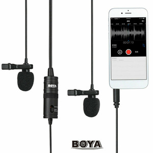 Image 5 - BOYA BY M1 M1DM BY MM1 + çift çok yönlü yaka mikrofonu kısa tabancası Video mikrofon canon nikon için iphone akıllı telefonlar kamera