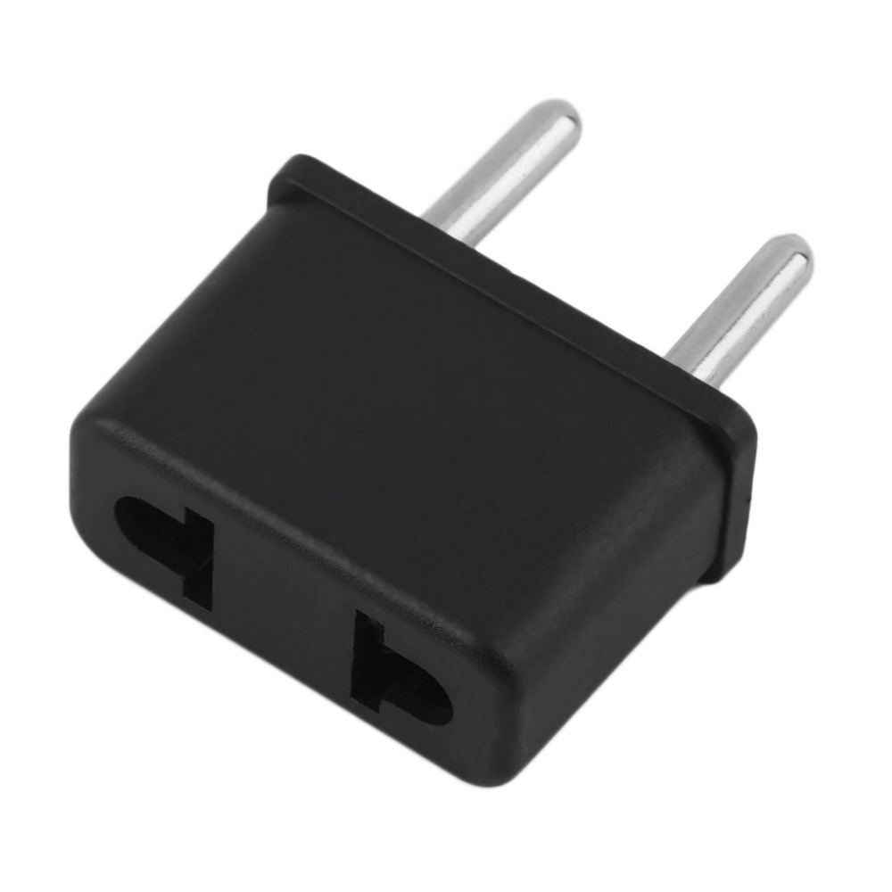 Universal US To EU Plug USA To Europe 220V Travel White Wall AC Power Charger Outlet Adapter Converter 2 Round Socket Pin