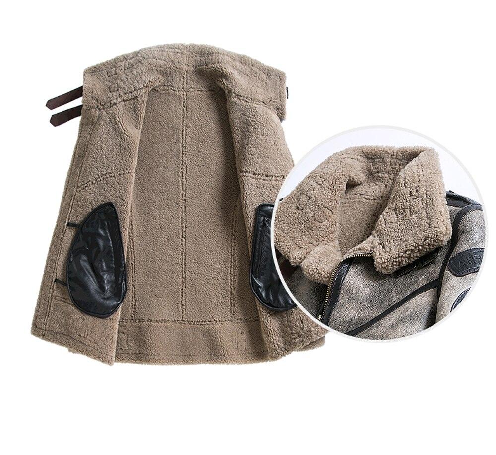 Hab7c852225c84a7ba096e6ffeaf7c7f1r 2019 Fashion 100% Quality Real Sheepskin Fur Men Coat Genuine Full Pelt Sheep Shearling Male Winter Jacket Brown Men Fur Outwear