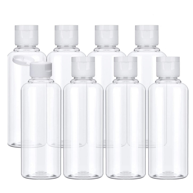 Пластиковые флаконы для шампуня, 20 шт., 10/30/50/60/100 мл, пластиковые бутылочки для путешествий, контейнер для косметики, лосьона