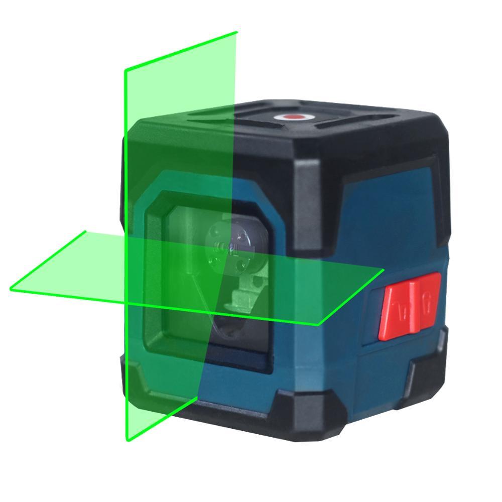 Мини Дух Уровень с лазером зеленого цвета светильник высокой точности сильный светильник автоматическое выравнивание измерителя уровня в...